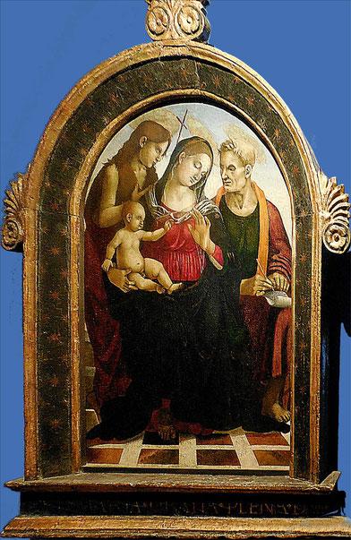 Signorelli Luca, Vierge à l'Enfant avec Saint Jean-Baptiste / Abbaye de Chaalis