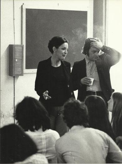Kety La Rocca con Gianni Pettena, 1974