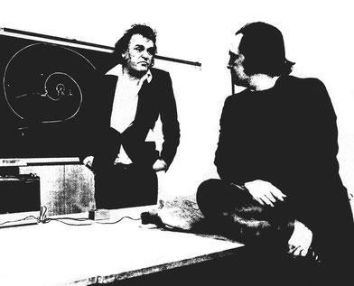 Mario Merz con Gianni Pettena, 1974