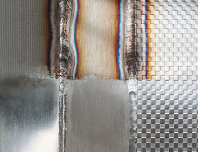 Decapaggio Elettrolucidatura di una saldatura pennello in fibra di carbonio Acciaio Inox carbonpinsel