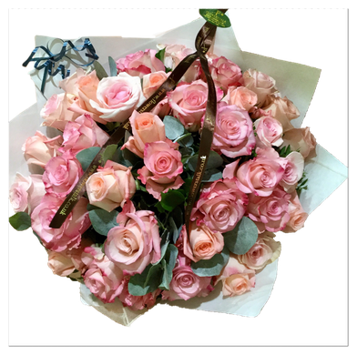 roses/ D50cm |バラとグリーンのみ使用、特別な日のブーケ