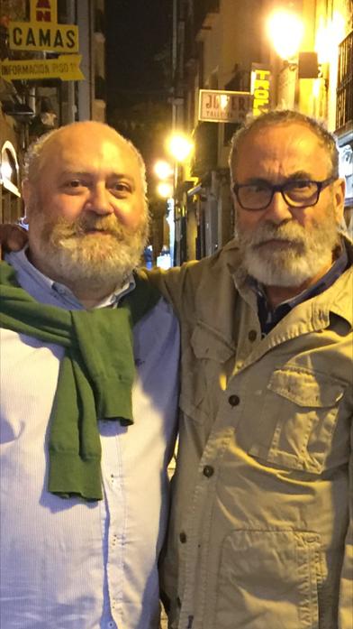 Con mi buen amigo y colega, Felo Reyes en la calle San Juan. Gran Artista!! mucho Arte!!