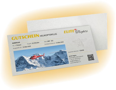 Elite Flights, Gutschein Rundflug, allgemeine Rundflüge, Helikopterflug, Helikopterrundflug, Rundflug, Beromünster, Grenchen, Basel