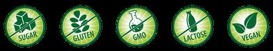 Enthält 100% natürliches Xylitol, Gentechnik-frei und frei von Gluten, Lactose und Fructose, Vegan