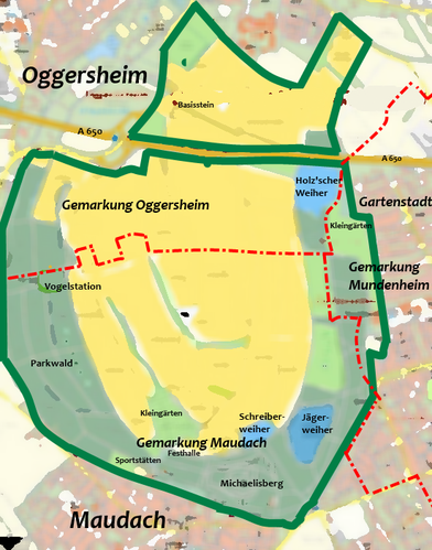 Gemarkungen im Maudacher Bruch