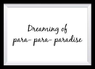 Typografie Poster Lifestyle, dreaming of paradise