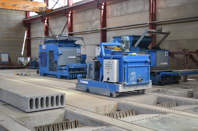 Maquinaria prefabricados de hormigón , placas alveolares