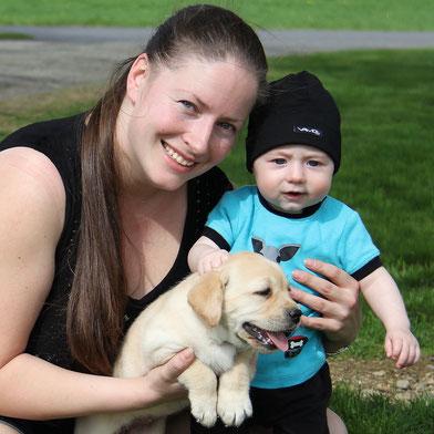 avec William mon fils de 5 mois