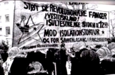 Solidaritet med de sultestrejkende revolutionære  fangers krav ,  København i 1989