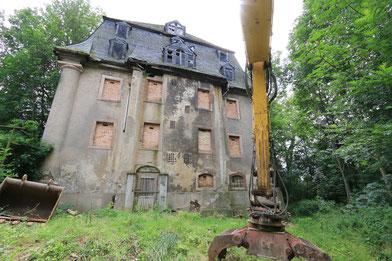 Abriss der historischen Meinertschen Spinnmühle Lugau im Jahr 2016