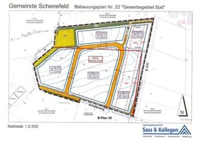 Bebauungsplan 22 Gewerbegebiet Süd