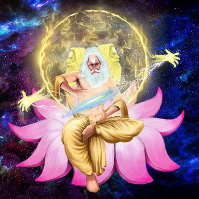 der 4-köpfige Brahma ::: Catur mukha brahmaji