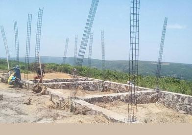 Die Baustelle in Mitendi - März 2018