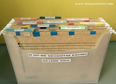 Como organizar los documentos que no se llevan a la escuela - AorganiZarte.com