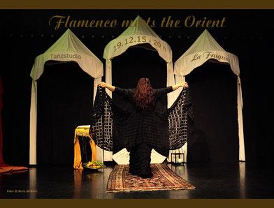 "Titelfoto zur Veranstaltung ""Flamenco meets the Orient"" bei der Fiesta de Invierno 2015 im Tanzstudio La Fragua/Color-Foto by Boris de Bonn"