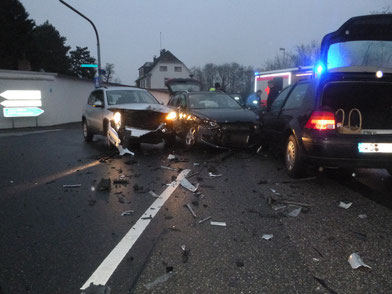 Unfall Weinsheimerstraße Worms. Foto: Polizei Worms