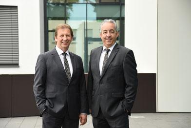 Die Vorstände der EWR AG, Günter Reichart und Stephan Wilhelm (v.l.). Foto: EWR Aktiengesellschaft