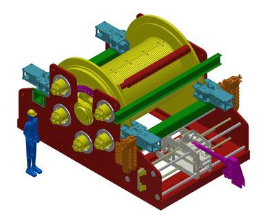 Industrie-Seilwinde mit 35 Tonnen Zugkraft
