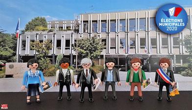 Les têtes de liste aux élections municipales de Vélizy-Villacoublay en Playmobil®