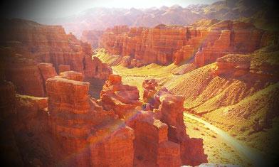 Sharyn Canyon Kazachstan Robur Wohnmobil