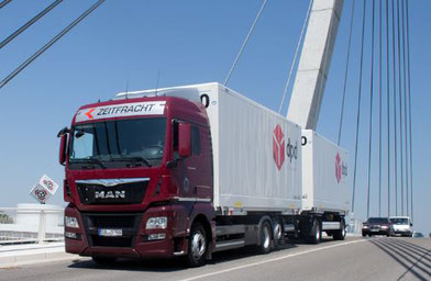 Zeitfracht operates 335 trucks, pictured here is one of their vehicles  -  company courtesy