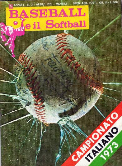 """Una copertina del mensile """"Il BASEBALL e il Softball"""" di cui si parla nell'articolo"""