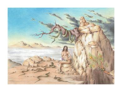Mirovia, Eva, arte fantástico, dibujo fantastico, dibujantes españoles