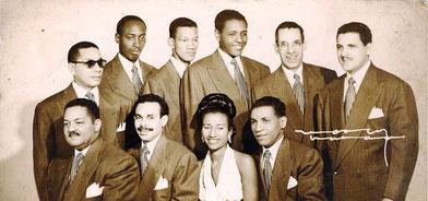 Sonora Matancera y Celia Cruz, 1950.