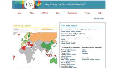 Homepage von PISA der OECD