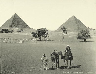 Foto vintage de les piràmides de Gizeh