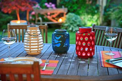 ©Nortene, photophores SOLAR CERAMICA  en céramique pour une belle décoration de table