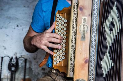 Griff Steirische Harmonika ohne Noten