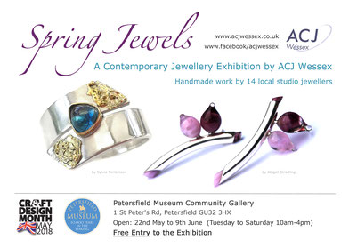 Spring Jewels - Contemporary jewellery exhibition by ACJ Wessex