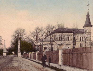 Die Villa um 1910.