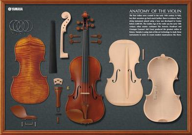 скрипки Ямаха  конструкция