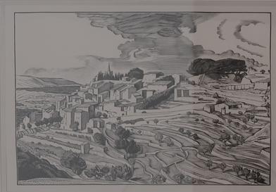 """""""Bonnieux"""" de Jean Chieze, in M. Varille, """"Le Luberon de Provence"""", 1942."""