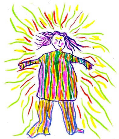Inner Child Drawing by Shelley Klammer