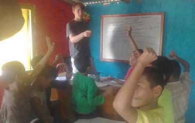 Jannis Riebschläger Voluntär Nepal