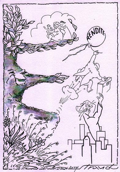 Herzlichen Dank an den Schriftsteller und Lithographen Siegfried Strauch, der uns diese Zeichnung geschenkt hat und damit einen Beitrag gegen die Zerstörung des Stadtgrüns leisten möchte.