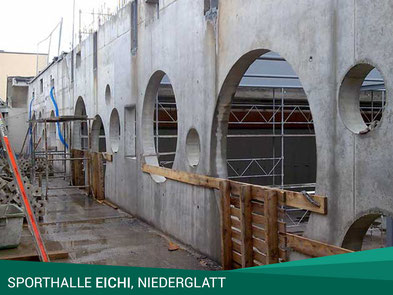 Sporthalle Eichi, Niederglatt. Architektur: L3P