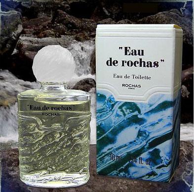 """""""EAU DE ROCHAS""""  - EAU DE TOILETTE 10 ML - EAU DE ROCHAS ENCADRE DE GUILLEMETS"""
