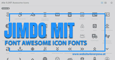 awesome icons auf jimdowebseite
