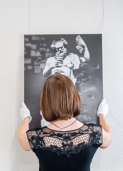 Mut bei der Kunstwahl: Foto und Kunstwerk von JeaPics