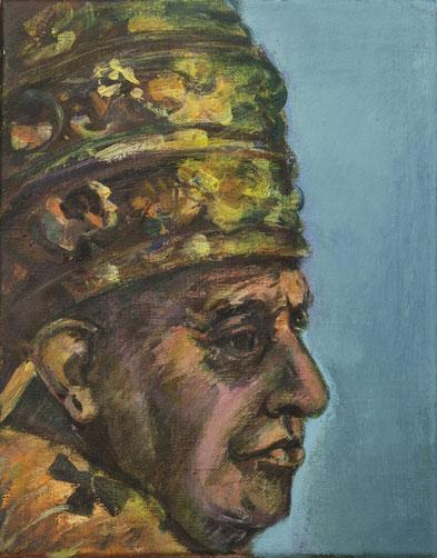 Papst Johannes XXIII, 24cm x 30cm, Acryl und Öl auf Leinwand, 2008