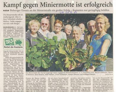 Wilhelmshavener Zeitung v. 21.8.2013