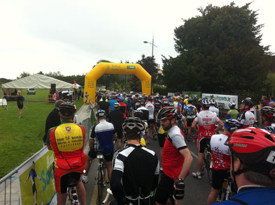 At the start line of the An Post Meath Cycle Heritage Tour.