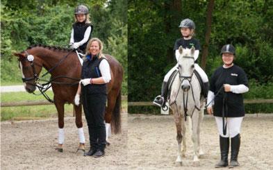Nele und Meike Schnoor mit Come on sowie Angelina und Anja Dümmen mit Mikado freuen sich über ihre Platzierungen.