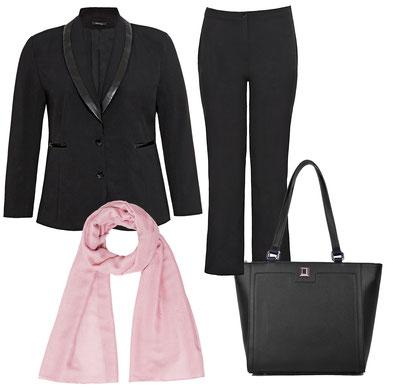 elegante Mode in Übergröße , Premium Mode in großen Größe , modische schwarze City-Taschen