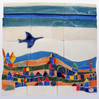 """""""Landschaft I"""", 50 x 50 cm"""