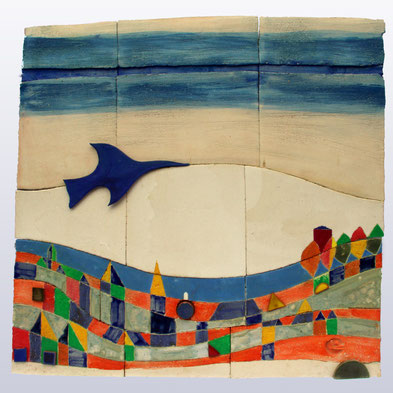 """""""Landschaft III"""", 53 cm x 52 cm"""